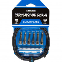 BOSS BCK 6 SOLDERLESS PEDALBOARD CABLE KIT (6 PZ)