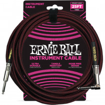 ERNIE BALL BRAIDED BLACK/RED STRAIGHT/90-7,62M