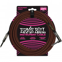 ERNIE BALL BRAIDED BLACK/ORANGE STRAIGHT/90-7,62M