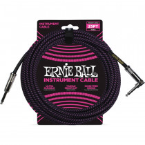 ERNIE BALL BRAIDED BLACK/PURPLE STRAIGHT/90 7,62M