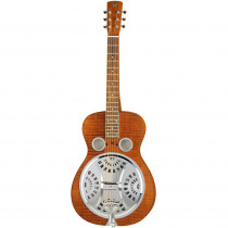 DOBRO AMPLIFICATO EPIPHONE HOUND DOG DELUXE SQUARE NECK VINTAGE BROWN