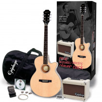 PACK CHITARRA FOLK AMPLIFICATO EPIPHONE PR 4E ACOUSTIC/ELECTRIC PLAYER PACK NATURAL