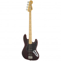 BASSO ELETTRICO FENDER LIMITED EDITION SANDBLASTED JAZZ BASS WITH ASH BODY MN CRIMSON RED TRANSPARENT