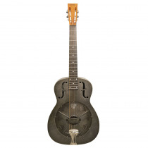 "DOBRO NATIONAL SINGLE CONE NRP STEEL 14 FRET METAL BODY ROUND NECK ""PAINTED"" BLACK RUST"