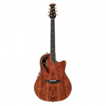 OVATION ELITE PLUS C2078AXP DEEP CUTAWAY OLIVE ASH BURL