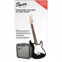 PACK CHITARRA ELETTRICA SQUIER STRAT SS PACK BLACK (SHORT SCALE)