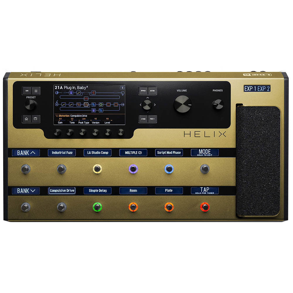 LINE 6 HELIX LIMITED EDITION GOLD
