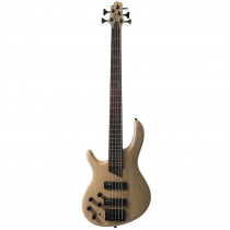 BASSO ELETTRICO CORT ARTISAN B5 PLUS AS LEFTY OPEN PORE NATURAL