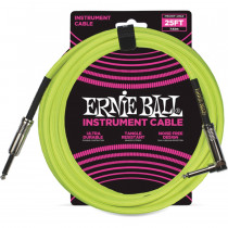ERNIE BALL BRAIDED NEON YELLOW STRAIGHT/90-7,62M