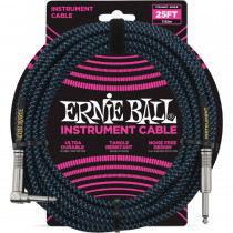 ERNIE BALL BRAIDED BLACK/BLUE STRAIGHT/90-7.62M