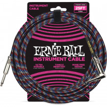 ERNIE BALL BRAIDED BLACK/RED/BLUE/WHITE STRAIGHT/90-7,62M