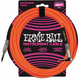 ERNIE BALL BRAIDED NEON ORANGE STRAIGHT/90-7,62M