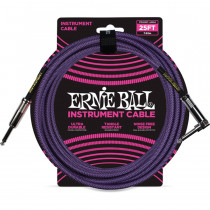 ERNIE BALL BRAIDED PURPLE STRAIGHT/90 7,62M