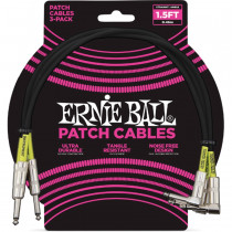 ERNIE BALL PATCH BLACK STRAIGHT/90 0,46M (3 PEZZI)