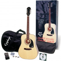 PACK CHITARRA FOLK EPIPHONE DR 90S ACOUSTIC PLAYER PACK NATURAL