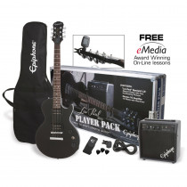 PACK CHITARRA ELETTRICA EPIPHONE LES PAUL PLAYER PACK EBONY