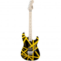 EVH STRIPED SERIES BLACK W/YELLOW STRIPES