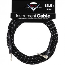 FENDER CUSTOM SHOP CABLES 5,5M BLACK TWEDD (STRAIGHT- RIGHT ANGLE)