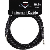 FENDER CUSTOM SHOP CABLES 5,5M BLACK TWEED STRAIGHT-STRAIGHT