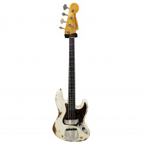 FENDER TIME MACHINE 2019 JAZZ BASS 1961 HEAVY RELIC RW AGED OLYMPIC WHITE (CUSTOM SHOP)