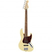 FENDER DELUXE ACTIVE JAZZ BASS V RW VINTAGE WHITE
