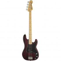 BASSO ELETTRICO FENDER LIMITED EDITION SANDBLASTED PRECISION BASS WITH ASH BODY MN CRIMSON RED TRANSPARENT