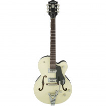 GRETSCH G6118T PLAYERS EDITION ANNIVERSARY W/STRING THRU BIGSBY FILTER'TRON P/U 2-TONE LOTUS IVORY AND CHARCOAL METALLIC