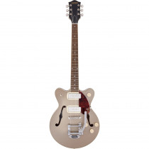 GRETSCH G2655T P90 STREAMLINER CENTER BLOCK JR. DOUBLE CUT W/BIGSBY TWO-TONE SAHARA METALLIC AND VINTAGE MAHOGANY STAIN