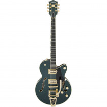 GRETSCH G6659TG PLAYERS EDITION BROADKASTER JR.CENTER BLOCK SINGLE CUT W/STRING THRU BIGSBY AND GOLD HARDWARE USA FULL'TRON PICKUPS CADILLAC GREEN