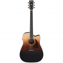 IBANEZ ARTWOOD TRADITIONAL ACOUSTIC AW80CE BROWN ALE GRADATION