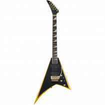 JACKSON X SERIES RHOADS RRX24 BLACK W/YELLOW BEVELS