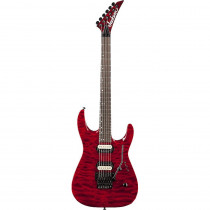 JACKSON PRO SERIES DINKY DK2QM TRANSPARENT RED