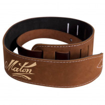 MATON SOFT SUEDE GUITAR STRAP BROWN