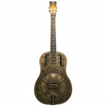NATIONAL SINGLE CONE STYLE O 12FRET METAL BODY ROUND NECK ANTIQUE BRASS