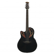 OVATION CELEBRITY ELITE CE44 5 MID DEPTH CUTAWAY LEFTY BLACK