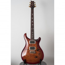 PRS WOOD LIBRARY #0567 CUSTOM 24 DARK CHERRY BURST (PATTERN THIN-TRBLADE 5-FLAME 10 TOP)