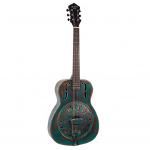 RECORDING KING METAL BODY SERIES LIMITED EDITION DISTRESSED METAL BODY RESONATOR STYLE 0 CHICKEN FOOT COVERPLATE