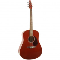 CHITARRA FOLK AMPLIFICATA SEAGULL S6 CEDAR FISHMAN SONITONE TRANSPARENT RED GLOSS TOP