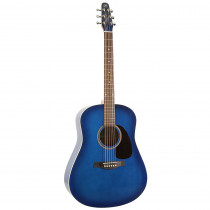 CHITARRA FOLK AMPLIFICATA SEAGULL S6 ORIGINAL SPRUCE FISHMAN SONITONE TRANSPARENT BLUE GLOSS TOP