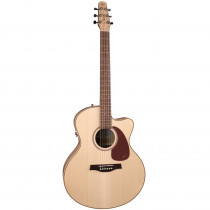 SEAGULL PERFORMER CUTAWAY MINI JUMBO FLAME MAPLE QUANTUM IT NATURAL (W/BAG)