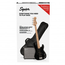 SQUIER AFFINITY SERIES PRECISION BASS PJ PACK MN BLACK