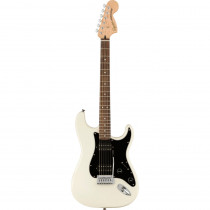 SQUIER AFFINITY STRATOCASTER HH BLACK PICKGUARD LL OLYMPIC WHITE