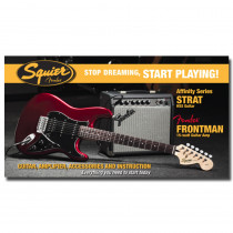 PACK CHITARRA ELETTRICA SQUIER AFFINITY SERIES STRATO HSS CANDY APPLE RED W/FENDER FRONTMAN 15G AMP