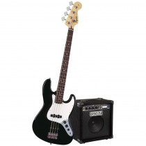 PACK BASSO ELETTRICO SQUIER AFFINITY SERIES J BASS BLACK W/RUMBLE 15 AMP