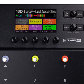 Multieffetto per chitarra elettrica e basso Line 6 PodGo Wireles e HX Stomp XL